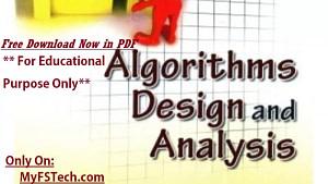 Algorithms Design and Analysis By Udit Agarwal PDF